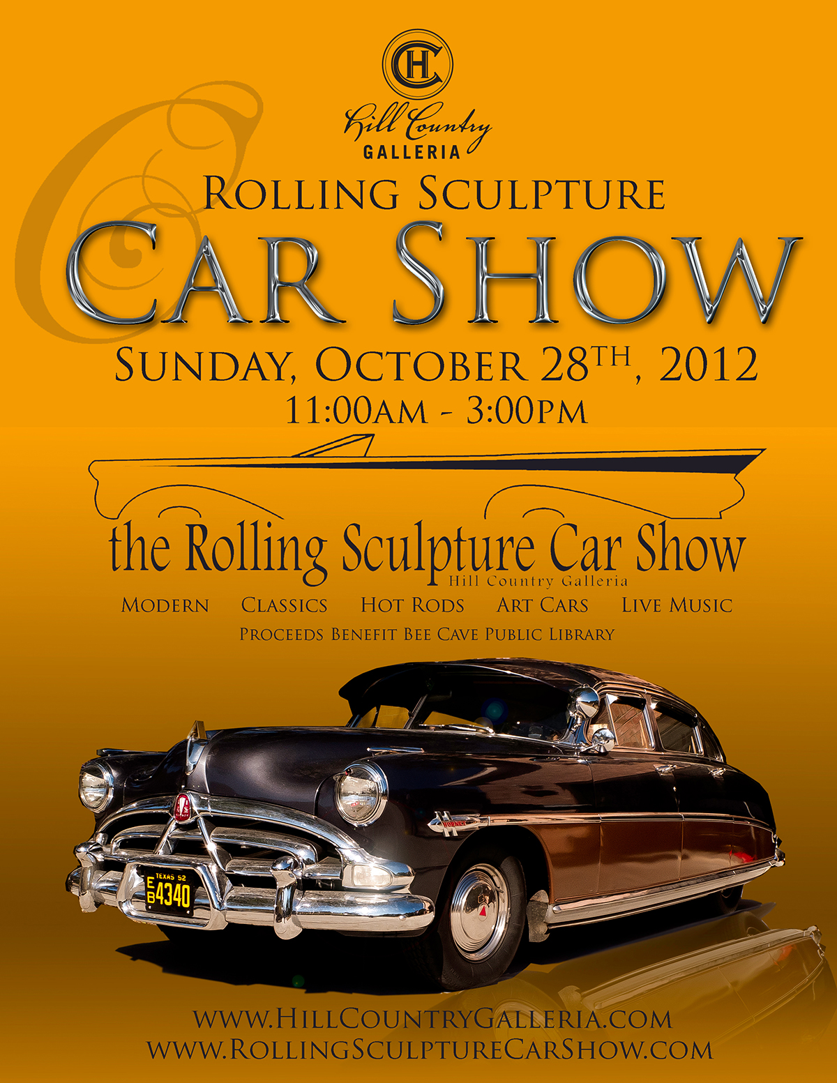 Annual Car Show Posters Rolling Sculpture Car Show - Car show com